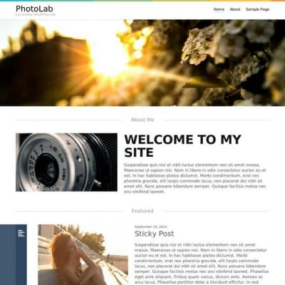 Шаблон WordPress - Photolab