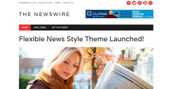 Шаблон Wordpress - The Newswire