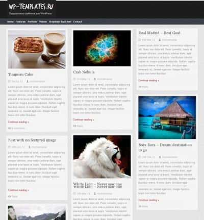 Шаблон WordPress - Themolio