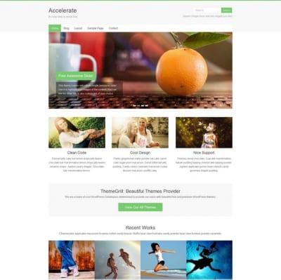 Шаблон WordPress - Accelerate