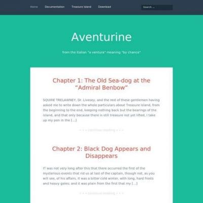 Шаблон WordPress - Aventurine