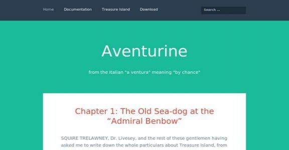 Шаблон Wordpress - Aventurine