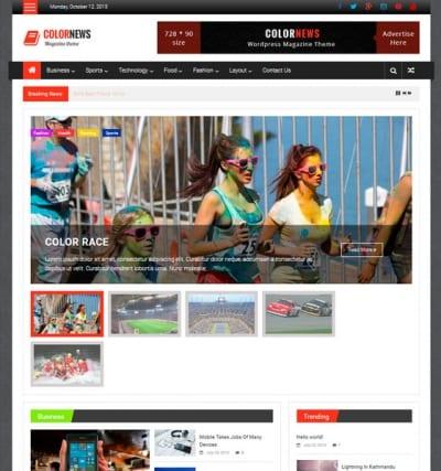 Шаблон WordPress - ColorNews