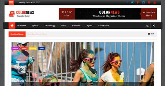 Шаблон Wordpress - ColorNews