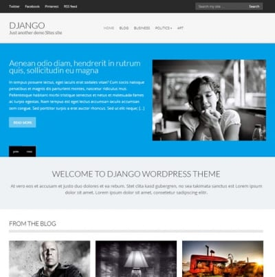 Шаблон WordPress - Django