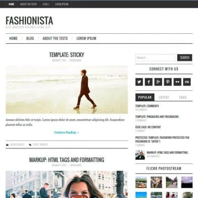 Шаблон WordPress - Fashionistas