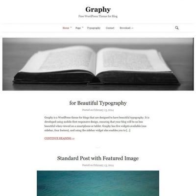Шаблон WordPress - Graphy
