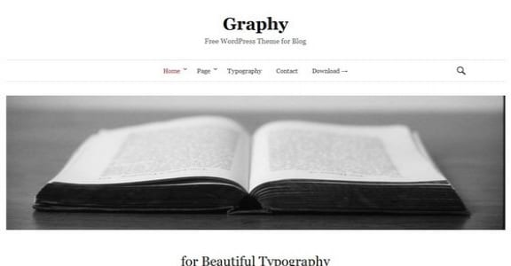 Шаблон Wordpress - Graphy