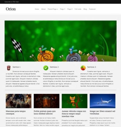Шаблон WordPress - Orion