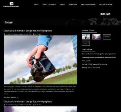 Шаблон WordPress - Premium Photography