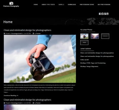 Шаблон WordPress - Premium Photography