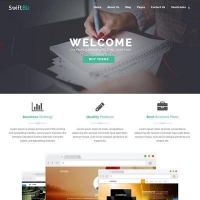 Шаблон WordPress - Swiftbiz Lite