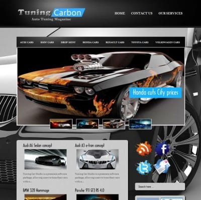 Шаблон WordPress - Tuning Carbon