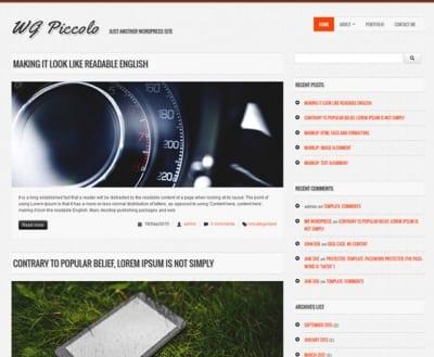 Шаблон WordPress - WG Piccolo