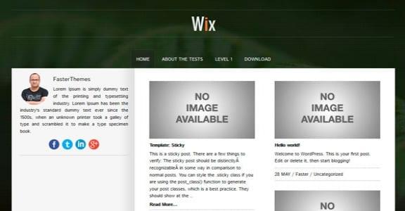 Шаблон Wordpress - Wix