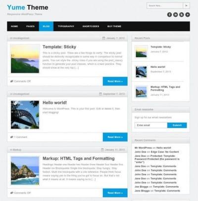 Шаблон WordPress - Yume Free