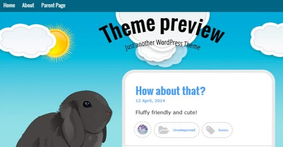 Шаблон Wordpress - Bunny