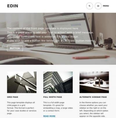 Шаблон WordPress - Edin