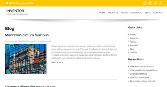 Шаблон Wordpress - Inventor