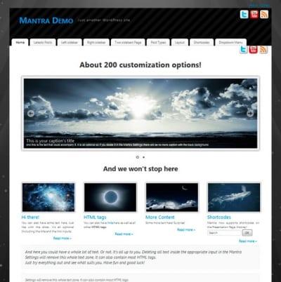 Шаблон WordPress - Mantra
