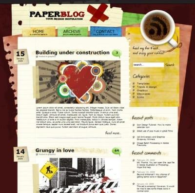 Шаблон WordPress - Paperblog