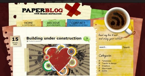 Шаблон Wordpress - Paperblog