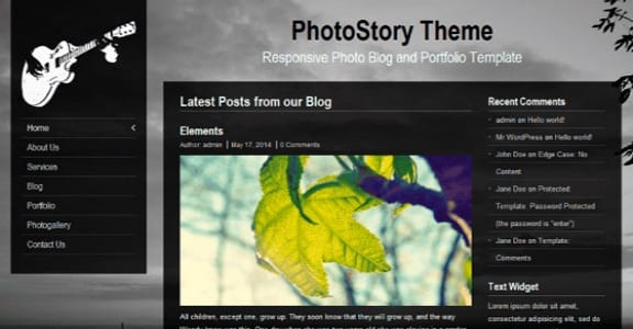 Шаблон Wordpress - PhotoStory