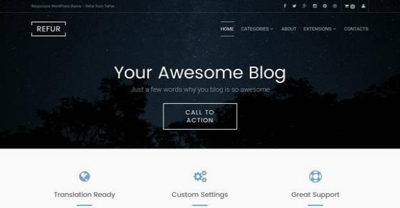 Шаблон Wordpress - Refur