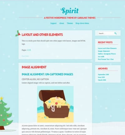 Шаблон WordPress - Spirit